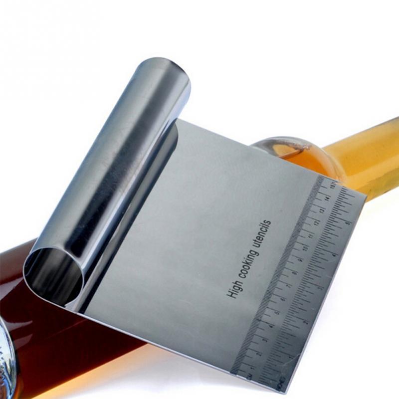새로운 전문 스테인리스 피자 반죽 Scraper 절단기 주방 밀가루 반죽 케이크 도구와 커터