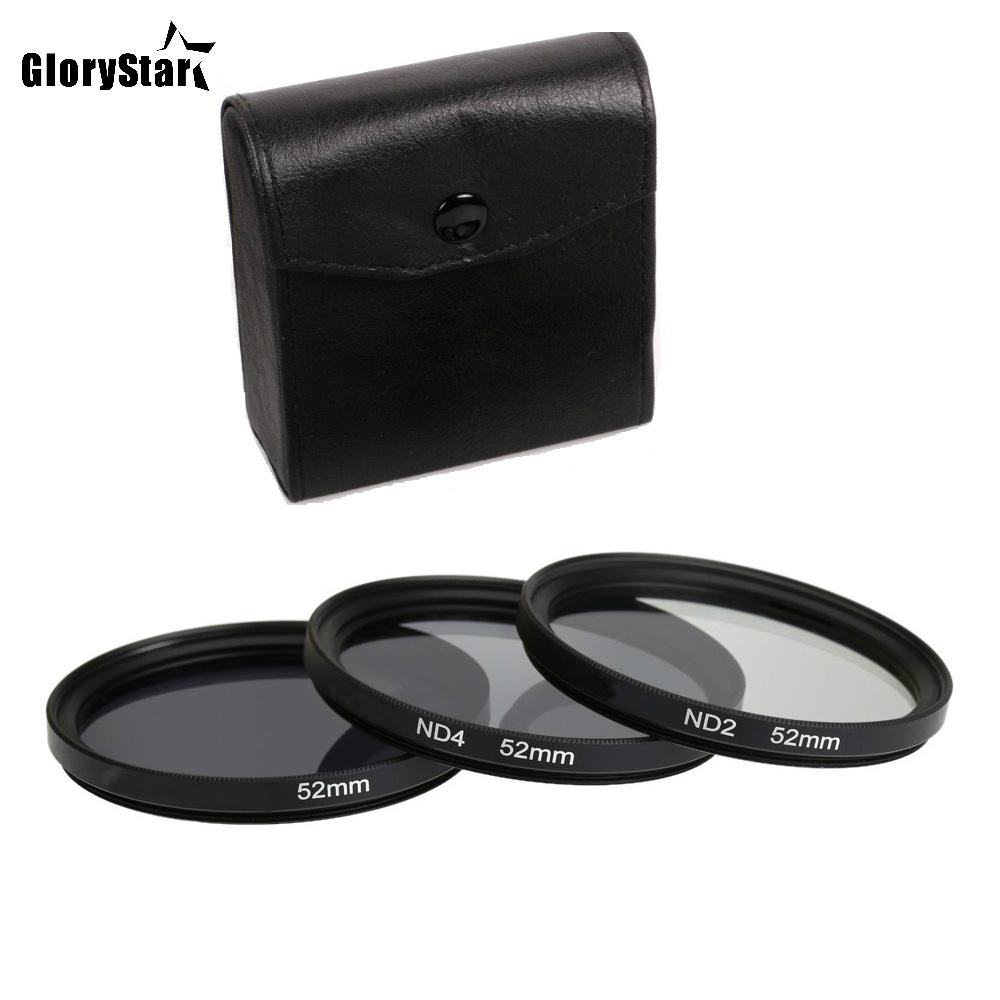 GloryStar 3 in 1 Gray ND2 ND4 ND8 Lens Filter Kit Set 49mm 52mm 55mm 58mm 62mm 67mm 72mm 77mm for Canon Nikon Sony Pentax Camera