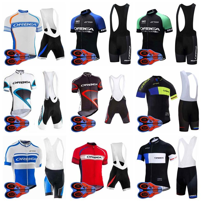 2018 Summer ORBEA Team Cycling Short Sleeves jersey MTB Bike Clothing quick dry Cycling Clothing Sports bib shorts Suit 92709J
