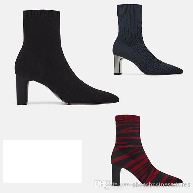 New sock boots women botines mujer 2018 sapato feminino schoenen vrouw ladies shoes ankle boots for women