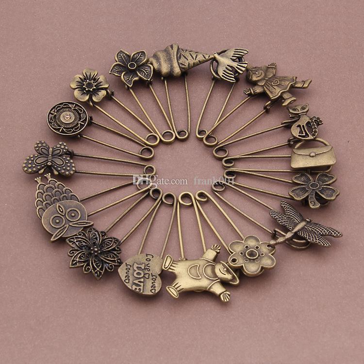 Vintage Rose Flower Charm Brooch Pin Base Blank Settings for DIY Jewelry Making Findings Vintage brooch pin
