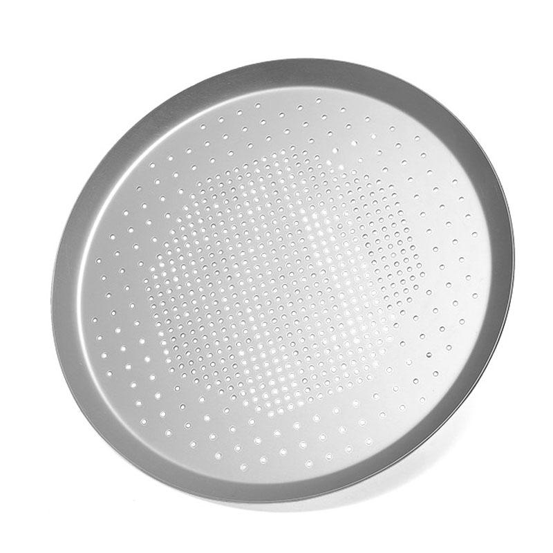 Pizza Pan plate 10-Inch Round Baking Pans Punching holes anodizing aluminium Commercial Grade Kitchen Baking Tray baking mold Oven Pan
