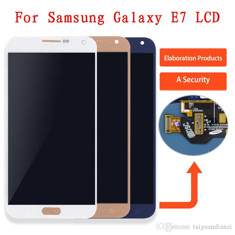 Samsung E7 E700 E700F E700M E700H LCD Ekran Dokunmatik Ekran Digitizer Meclisi Için Galaxy E7 ekran E700 Ekran, Ayarlanabilir parlaklık