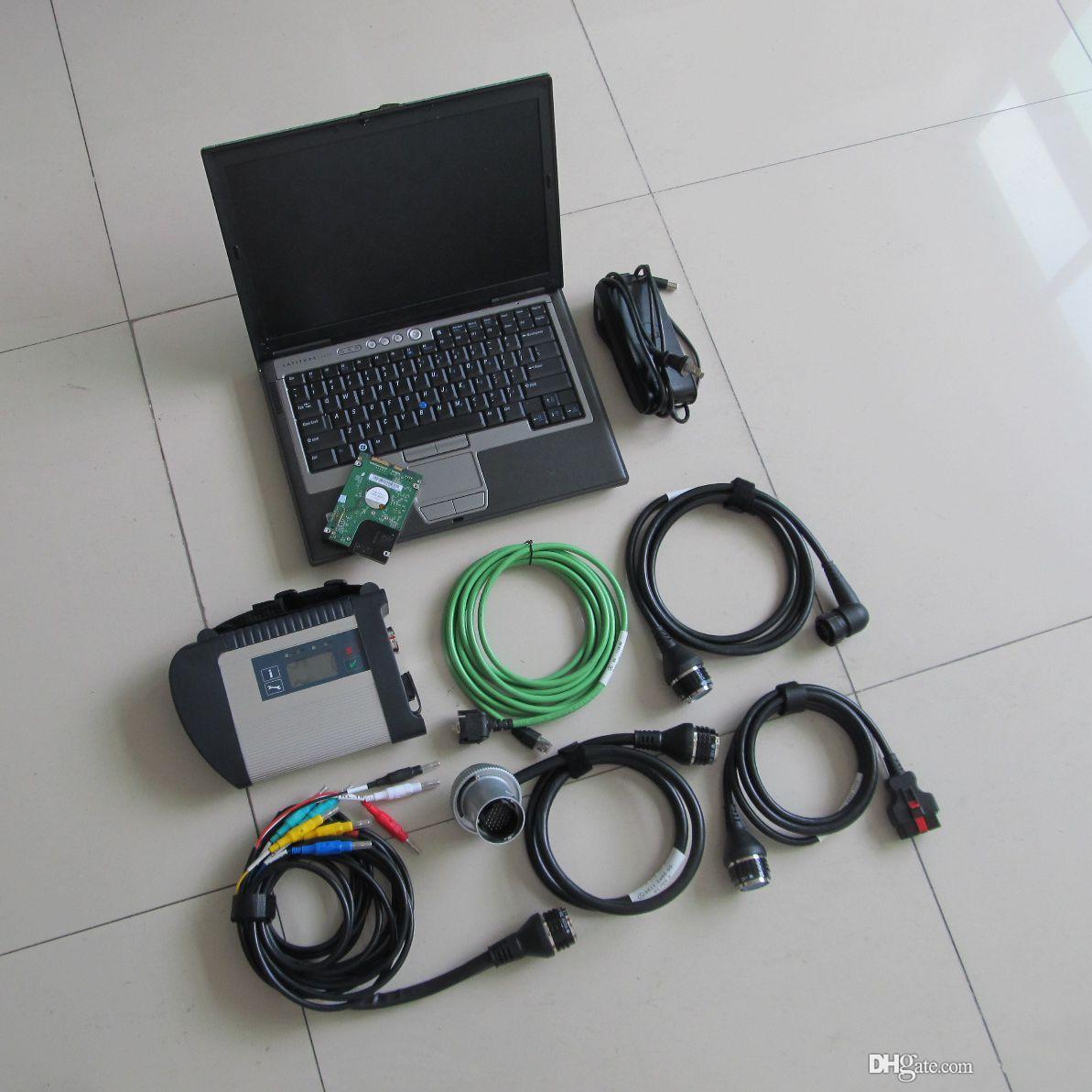 MB Yıldız C4 Tarayıcı Teşhis Aracı HDD 320 GB WIFI Laptop Ile 320 GB SOUSEARE 2021.03 D630 4G Toughbook Araba Kamyonlar Için