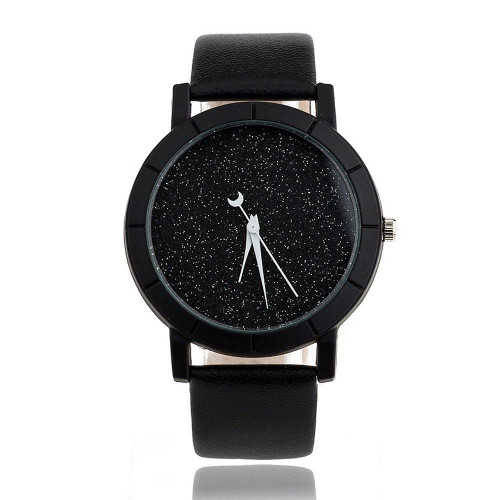 Star Minimalist Wrist Bracelets Lovers Fashion Leather Wrist watch Women Men Quartz Analog Wristwatch Orologio Uomo DropShipping