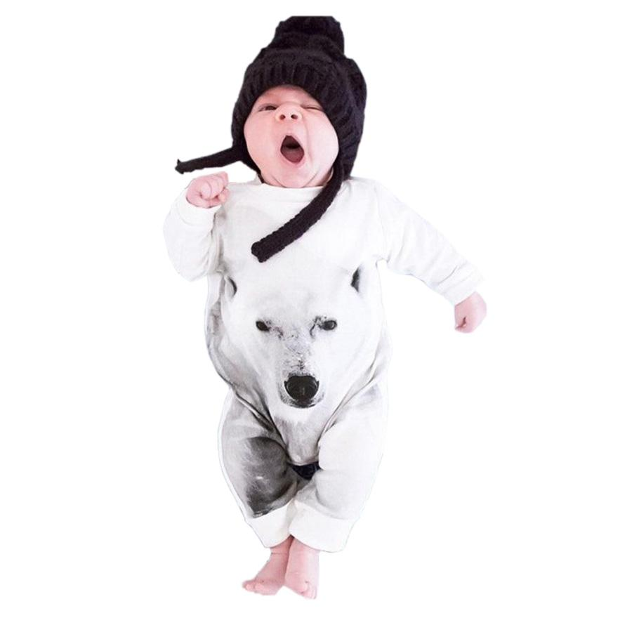cute one-piece baby romper funny animal polar bear cotton onesie jumpsuit for 9-36Month baby newborn infant bodysuit clothes