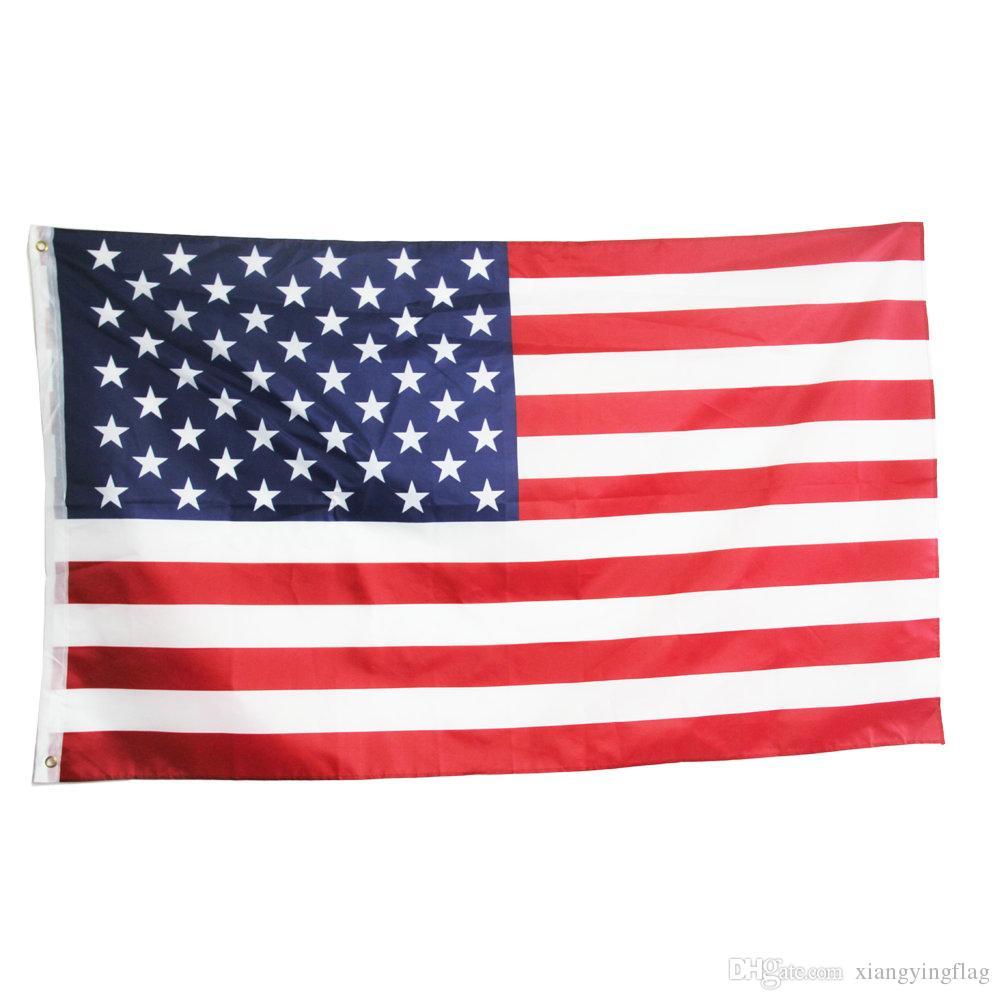 freies Verschiffen direkte Fabrik Großhandel 3x5Fts 90x150cm USA Stars And Stripes USA US-amerikanische Flagge von Amerika