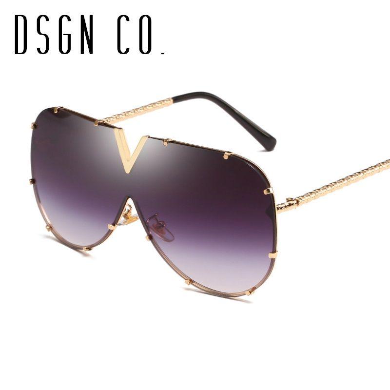 DSGN CO. Livraison gratuite lunettes de soleil vintage pour les hommes et les femmes Classique Pilot Rimless Lunettes de soleil 8 Couleur UV400