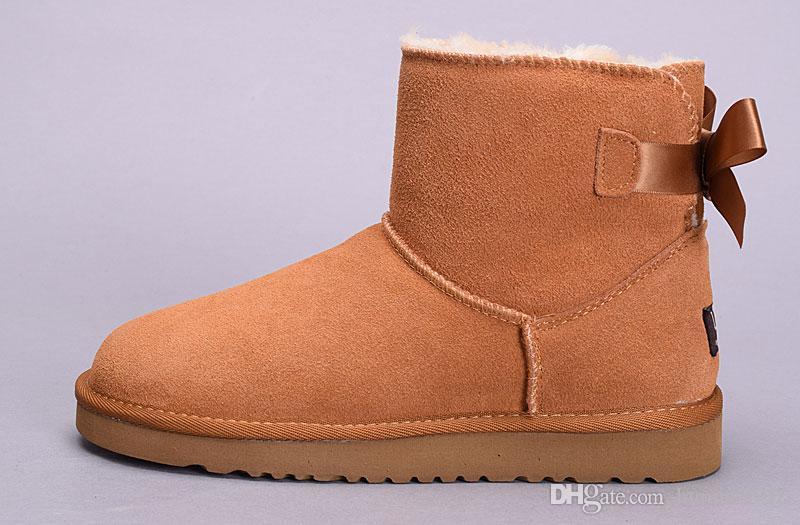 Заводская продажа 2019 новая Австралия классические высокие зимние сапоги из натуральной кожи Bailey Bowknot женские Bailey лук снегоступы обувь boost