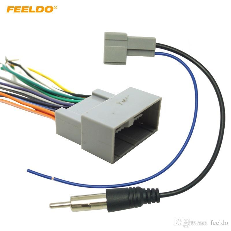Feeldo Car Radio Audio Stereo Wire wiązka radiowa Drut radiowy dla Honda Install Aftermarket CD / DVD Stereo Adapter # 4730
