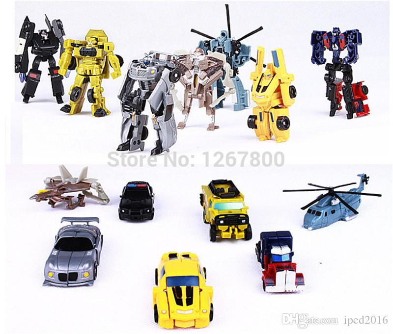 Hot Sale 7PCS/Set Transformation Robot Cars Toys Action Figures Classic Toys For Kids Christmas Gifts