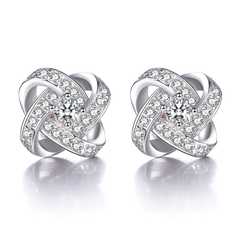 Woman Ear Nail Woman Korea Love Eternal Of Heart Plate With Silver Ear Nail Fashion Earring Product