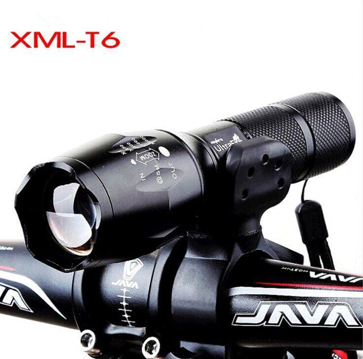 Dağ bisikleti, bisiklet ön lamba Mini yakınlaştırma taktik güçlü ışık el feneri T6'ya LED