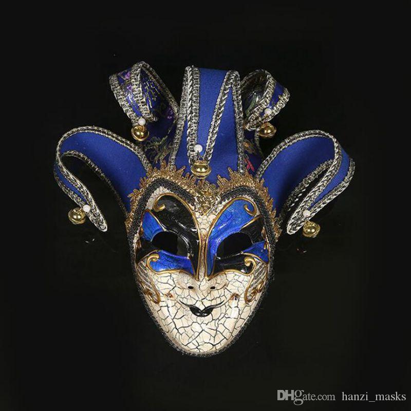 Hanzi_masks 1 STÜCK HPT !! Neu High-End Venezianische Maskerade Maske Europa und die Vereinigten Staaten Halloween Clown Maske Show liefert