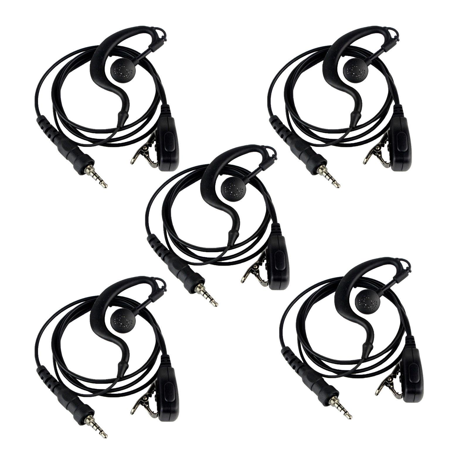 New Sell G-Shape Earpiece Headset PTT MIC for YAESU Vertex VX-6R 7R 170 VXA-710