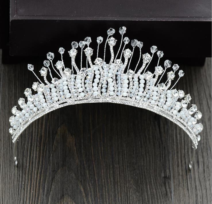 2018 new handmade crystal crown Bridal Headband hoop wedding dress, bridal dress, accessories
