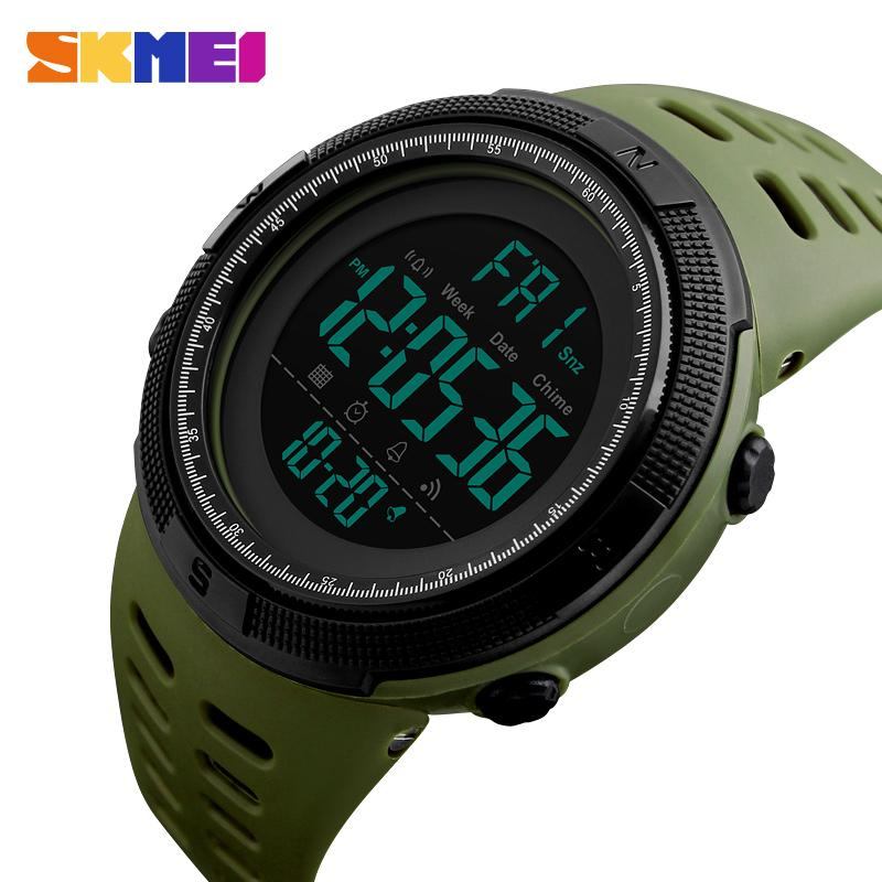 SKMEI Heiße Marke Männer Sportuhren Mode Chronos Countdown Digitale Armbanduhr Outdoor 50 Mt Tauchmann Uhr Reloj Hombre