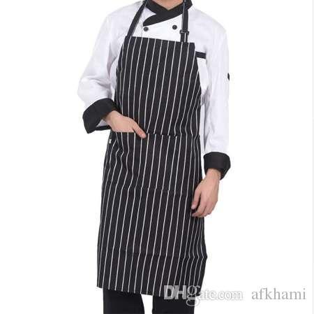 2 개의 포켓으로 벗겨진 요리사 앞치마 민소매 성인 남성 여성 앞치마 주방 요리 도구 격자 무늬 폴리 에스터 Bibs
