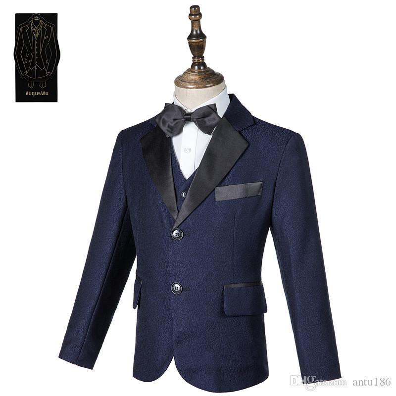 High-end zarif erkek beyefendi yakışıklı takım elbise üç parçalı takım (ceket + pantolon + yelek) erkek resmi parti topu elbise destek özel