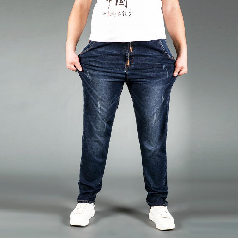 2018 Men Cotton Straight Classic Jeans Spring Autumn Male Denim Pants Overalls Designer Men Jeans High Quality Size L-5XL