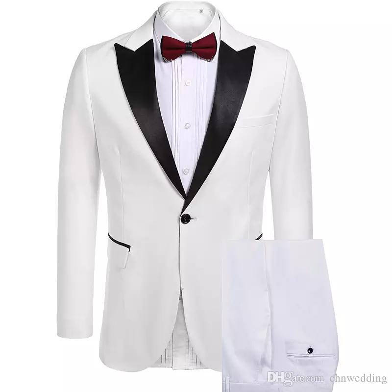 Custom Made Slim Fit Men Suits 2018 for Wedding Tuxedos 2 Piece (Jacket+Pants) Prom Wear Evening Party Suits Blazer