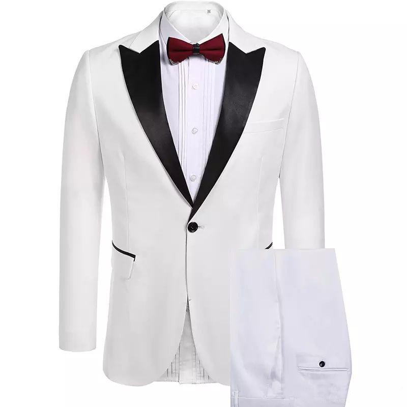Özel Slim Fit Erkekler Wedding Smokin 2 Piece (Ceket + Pantolon) Prom Akşam Parti Blazer Takımları Wear için 2018 Takımlar yapılmış