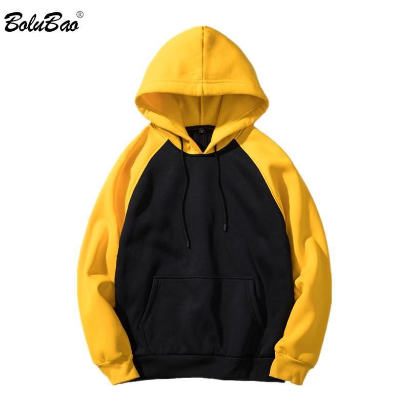 BOLUBAO Nouveau Hommes Sweat Hoodies Qualité Mode Patchwork Streetwear Hommes Survêtement Homme Hooded sport Taille de l'UE