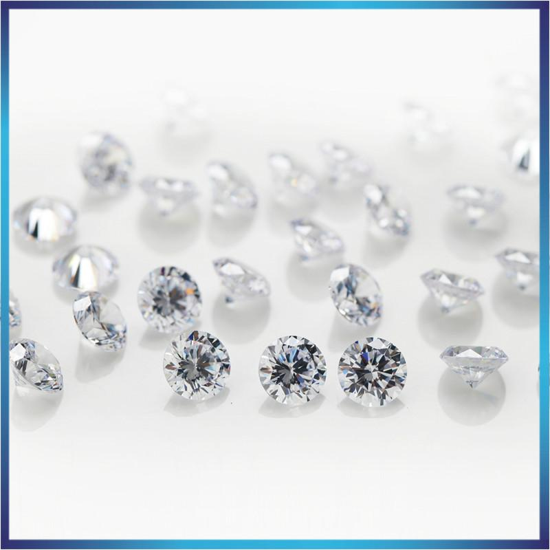 8mm 200pcs 0.8~4mm 5A Sample White Round Machine Cut Lab Created Loose Cubic Zirconia CZ Stone Synthetic Gems For Jewelry DIY