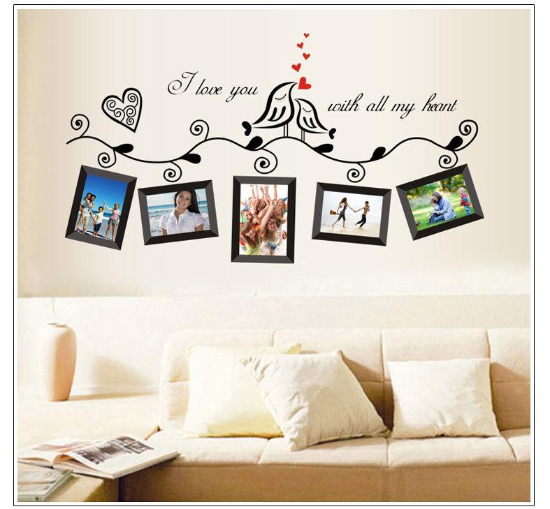 Photo Frame Family Quotes Wall Stickers Living Room Decor Home Decals Art Posters Adesivos De Paredes Wall Decals On Sale Wall Decals Quotes From Douglass 20 75 Dhgate Com