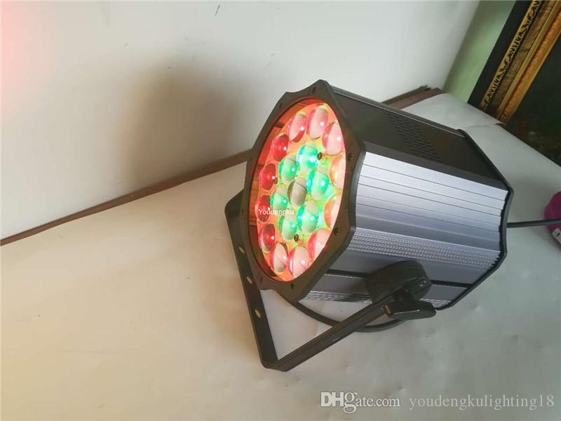 China dj par led interior 6 en 1 rgbwauv zoom led luz par 19 x 18w RGBWA UV zoom led par zoom