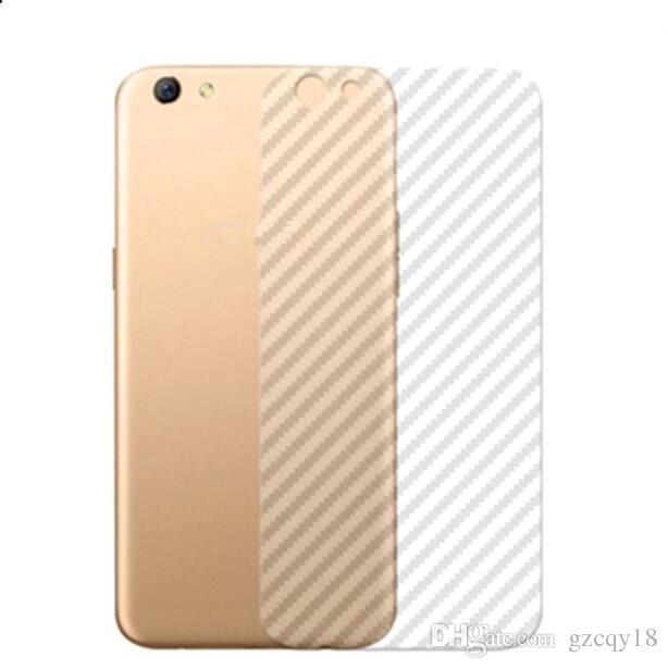 3D Carbon Fiber Vinyl Protector Transparent Sticker Back Film for Iphone 11 Pro Max X XS MAX XR 8 7 6 6s Plus Clear Stickers