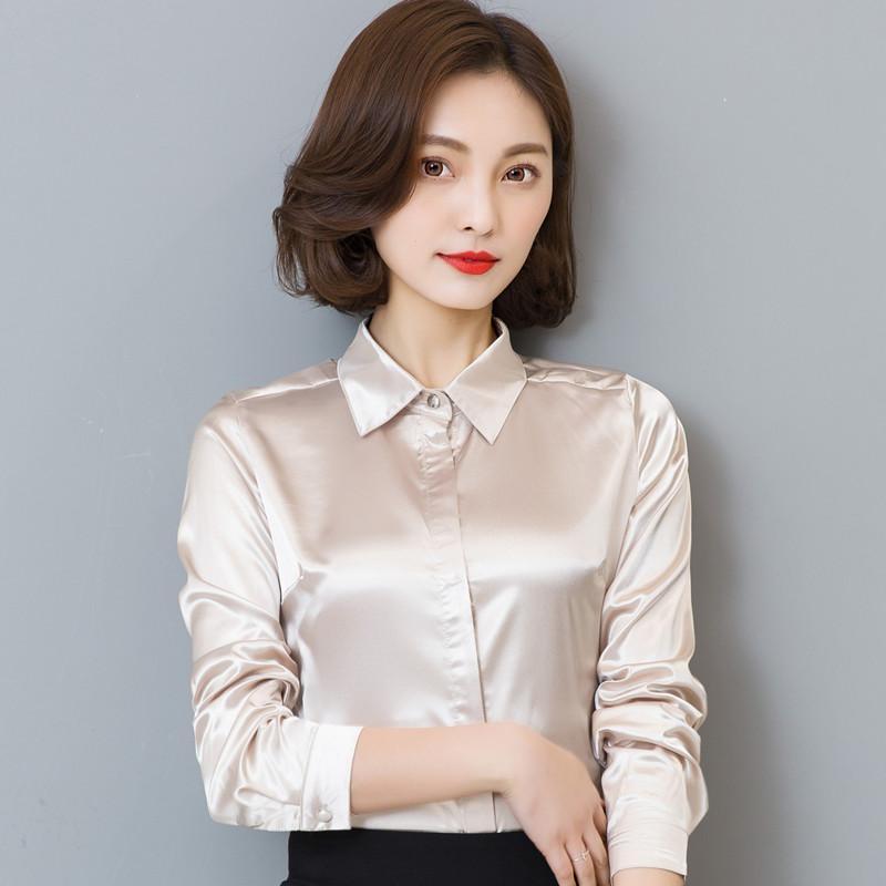 DFRCAEG плюс размер Женская одежда 2017 новая мода блузка с длинным рукавом Blusa Feminina Весна тонкий женщины рубашки 7 цветов женщины топы