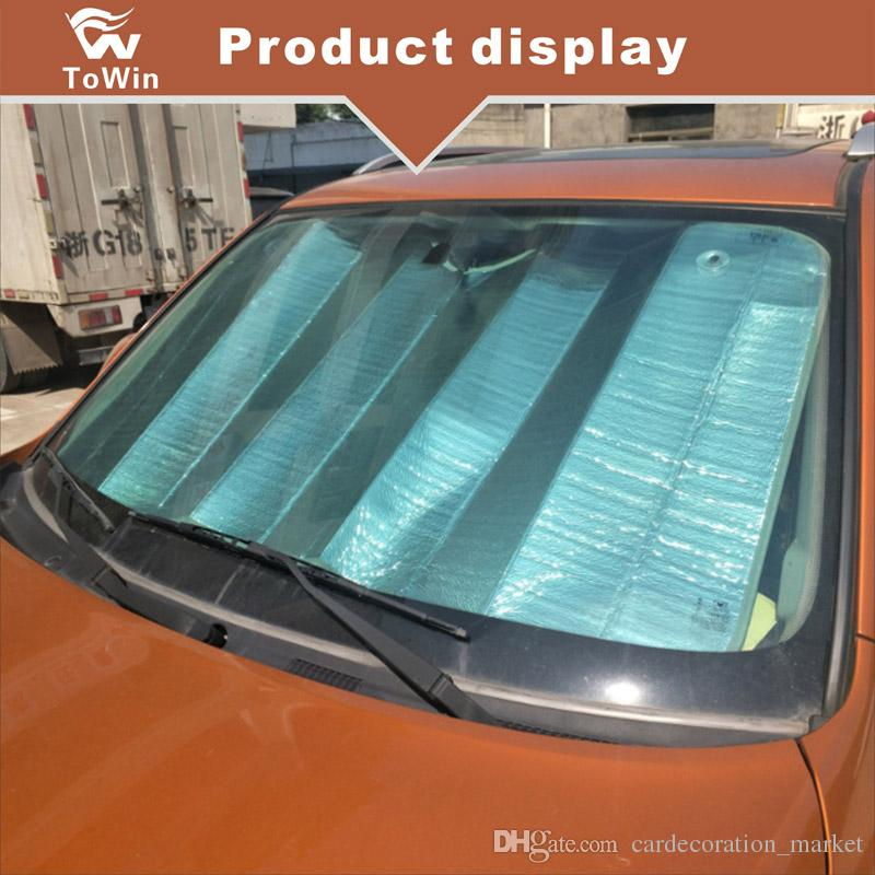 Sunshades For Cars >> Front Windshield Sun Shade Auto Sunshade For Car Truck Suv Protection Front Windows Highest Quality Thin Silver Aluminum Film Universal Sun Blinds For