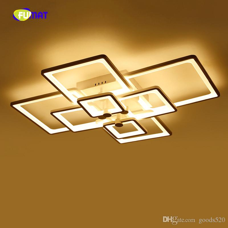 Modern LED Creative square Ceiling Light For Living Room fashion luminaire Foyer Home Fixture With Remote Control