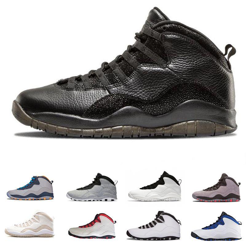 Venta caliente 10 10s Cemen Zapatos de baloncesto Zapatillas de deporte para hombres Bobcats gris Zapatos Zapatillas de zapatos para caminar transpirable Zapatos Zapatos Mejor proveedor
