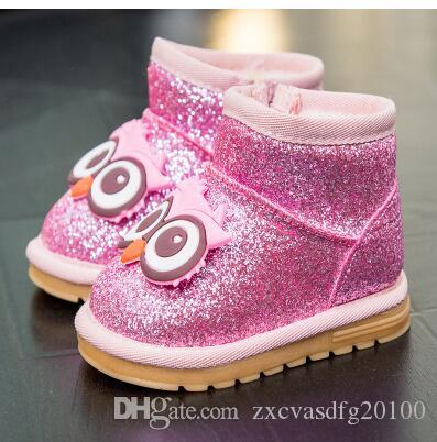 Winter baby shoes, baby toddlers 1-3 year old boys and girls lovely snow boots