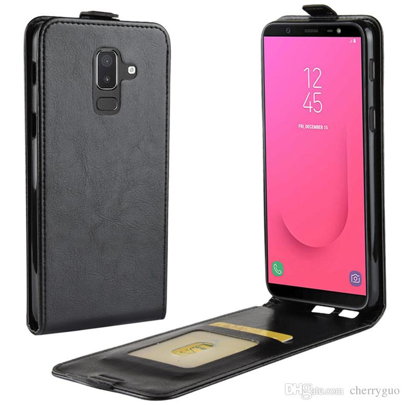 4129e7cf47f Flip Cover For Samsung Galaxy J4 2018, TPU Soft Case+PU Leather Up and Down  Case Phone Shell for Samsung J8 2018