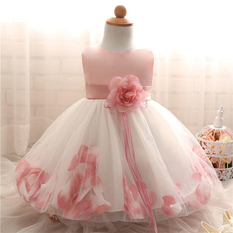 Kinder Baby Mädchen Kleider für Mädchen 1 jahr Kinder Kleid de bebes meninas mädchen kleidung Taufe Robe Fille vestido infantil Y18102008