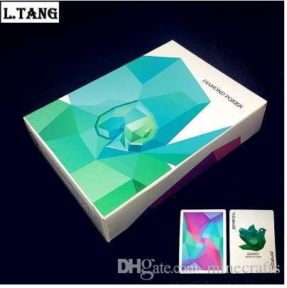 54pcs مجموعة أوراق اللعب الماسية Black Core Paper Poker Creative Gift Magic Standard Cards 88mm * 63mm L469