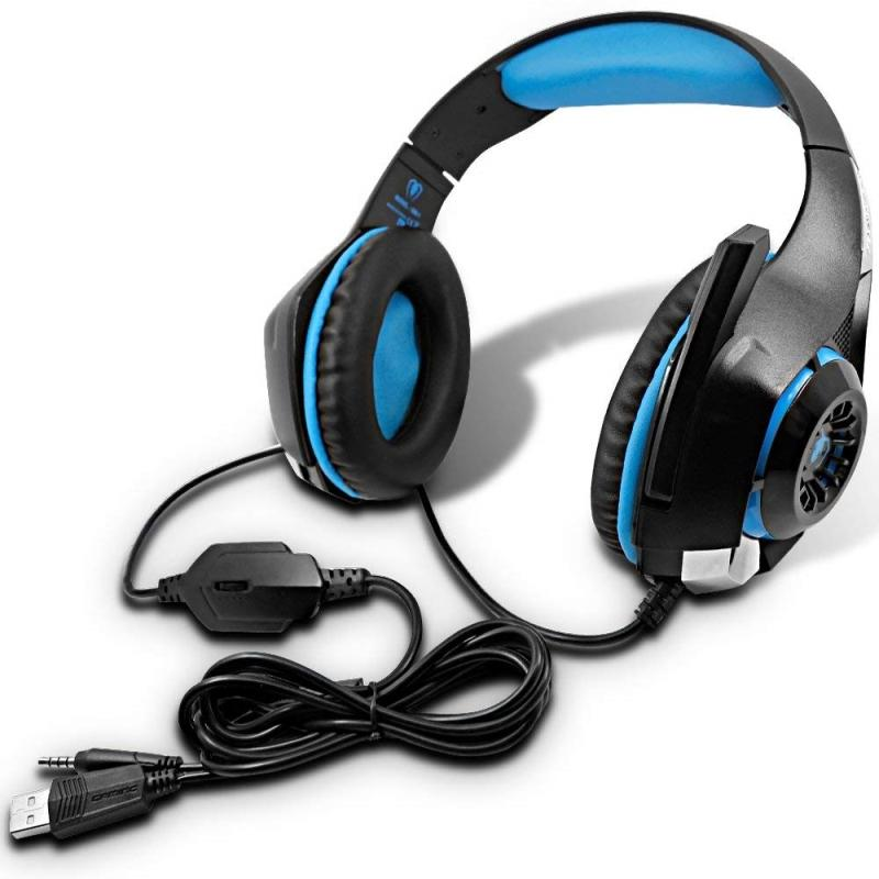 New Gaming Headset Bass Enhanced Headphone for PS4 PSP Xbox One Tablet iOS iPad Smartphone Stereo Earphone for PC with Mic Noise Cancelling