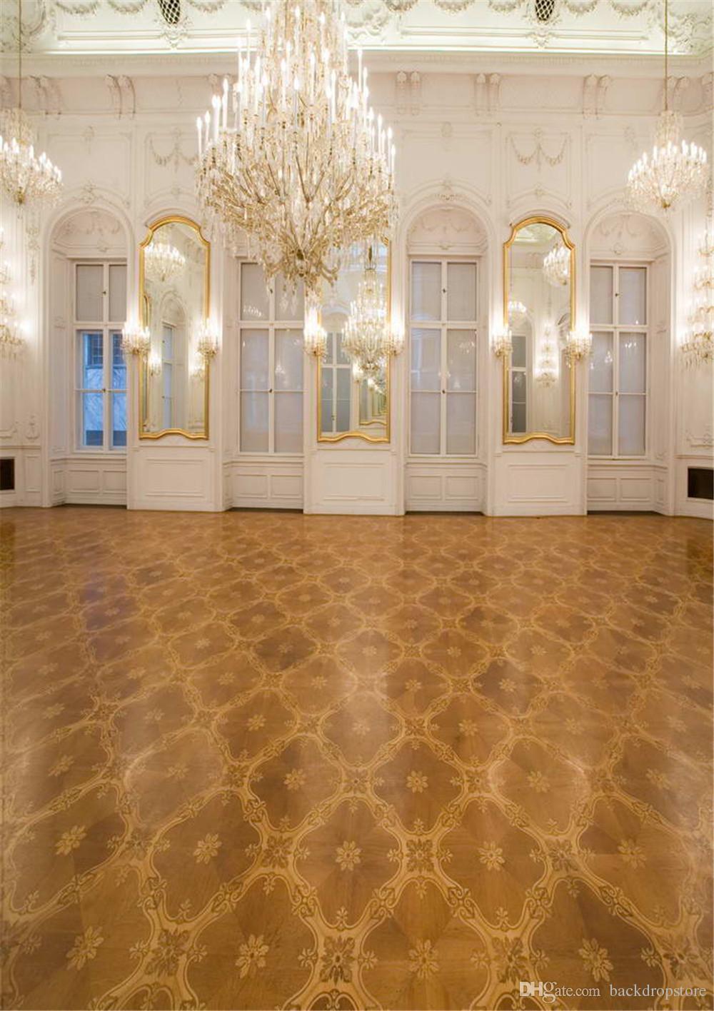 الفاخرة الداخلية قصر كريستال الثريا الخلفيات جدار الأبيض النوافذ الزفاف صور خلفيات خمر براون الدمقس الكلمة
