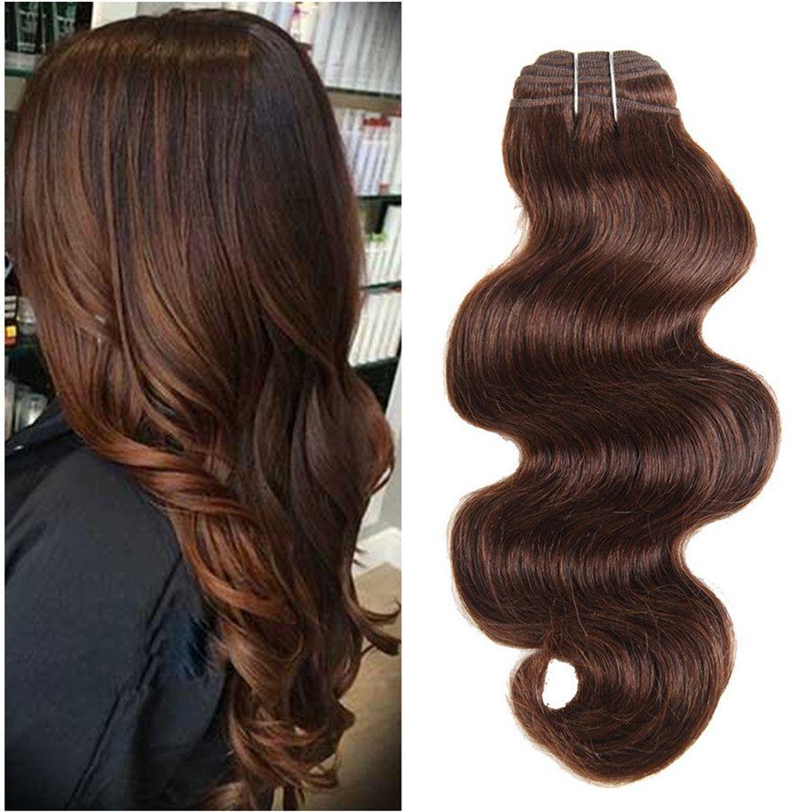 2019 Fashion Color #4 Chestnut Brown Human Hair Bundles 3PLcs/Ot Dark Brown  Body Wave Brazilian Virgin Hair Extension For Black Women From Ruma_hair,  ...