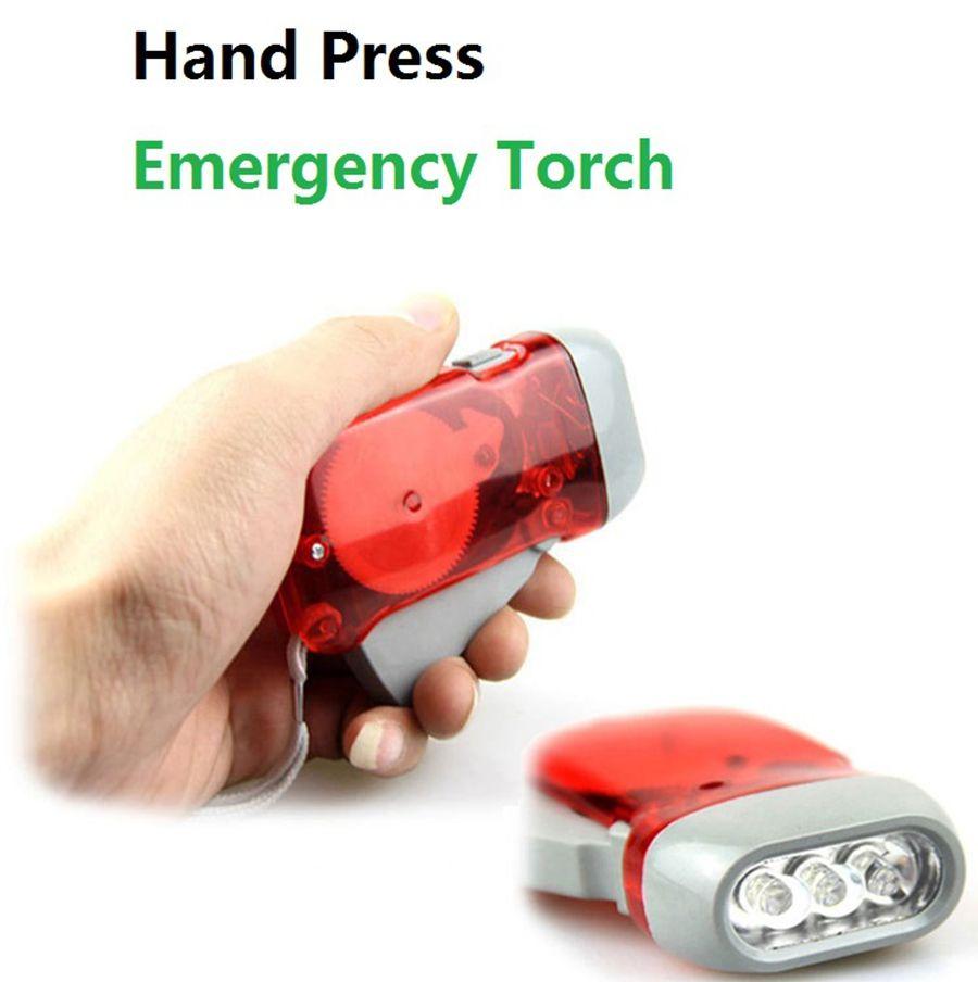 3LED Emergency Torch Hand Press Camping Light Torches Energy-saving Flashlight Dynamo Night Light Outdoor Hand Press Crank Torches