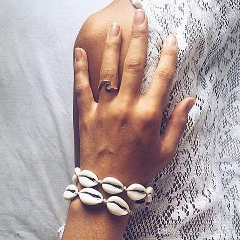 اليدوية شل نسج سوار حبل سلسلة للمرأة البوهيمي العرقية مجوهرات خلخال سوار هوليداي بيتش صندل خلخال XR