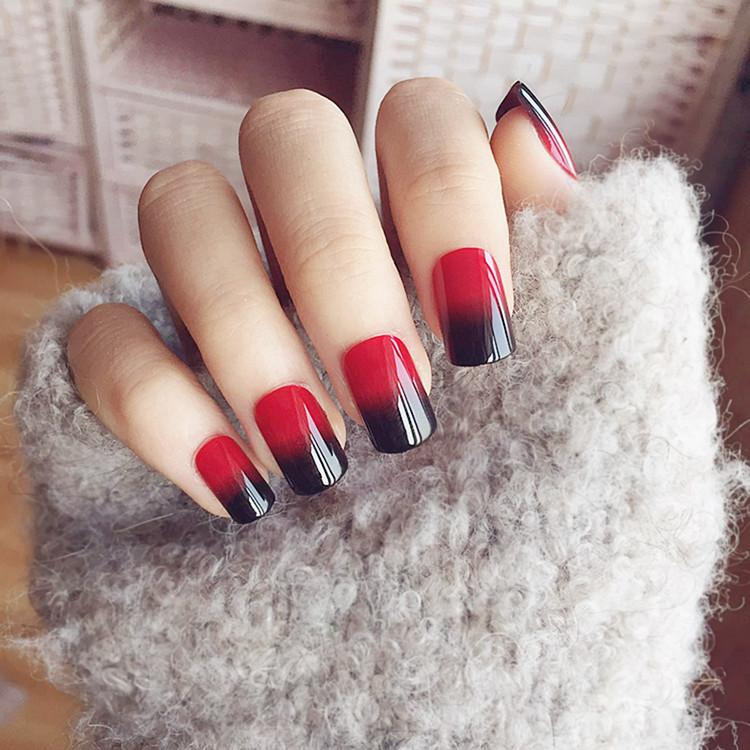 Cream Nude Pink Pure Color 3d Fake Nails Cute French False Nails ...