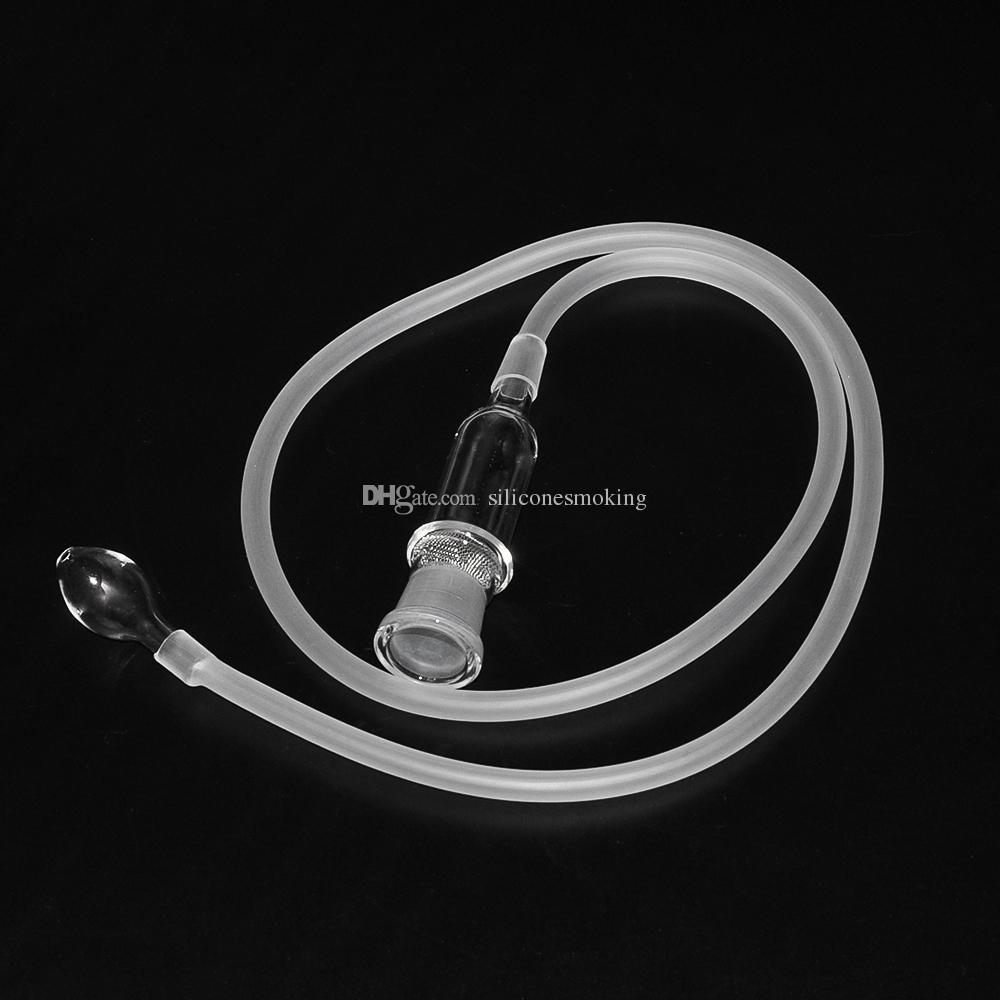 Envío gratis Universal Glass Vaporizer Whip para el reemplazo snuff snorter vaporizador manguera con vidrio 18.8 mm / 14.4 mm conjunta