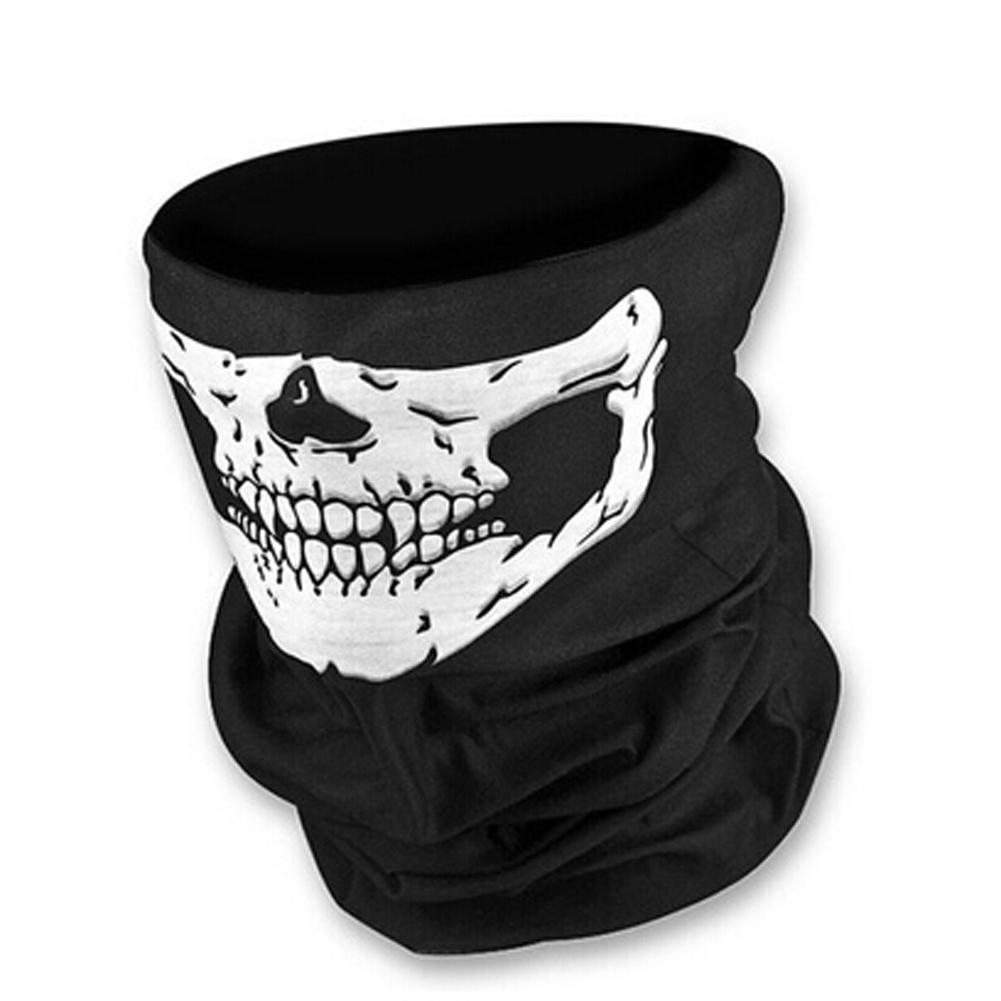 FancyQube Unique Fashion Motorcycle SKULL Ghost Face Windproof Mask Outdoor Warm Balaclavas Scarf