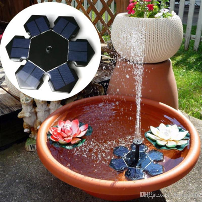 Мини солнечных батарей Насоса фонтанной вода Плавающая солнечная вода Насосы для сада Открытого бассейн украшения Горячей продажи