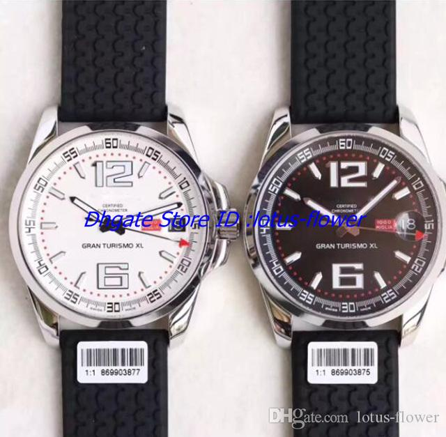 V6 New Top Mens Automatic Eta 2824 Watch Date Men Chronometer Rubber 168457 Swiss Watches Power Reserve Turismo Sapphire Gran XL Wristwatch