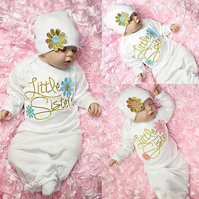 b3bef0d45565 2019 Newborn Toddler Infant Baby Girl Coming Home Outfit Little ...